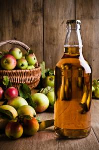 Bottled Cider With Apples